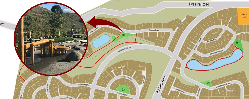 Location of new water park at The Lakes Tauranga