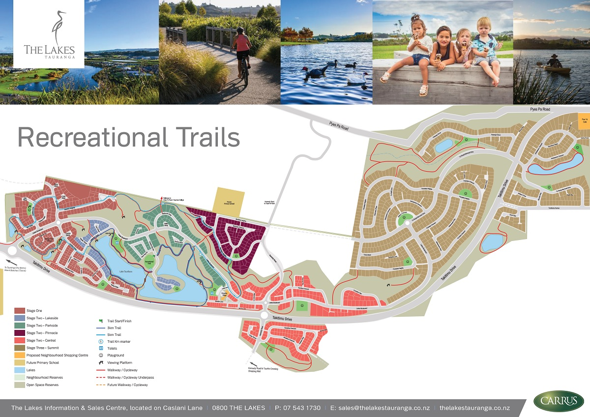 The Lakes Tauranga Recreational Trail Map