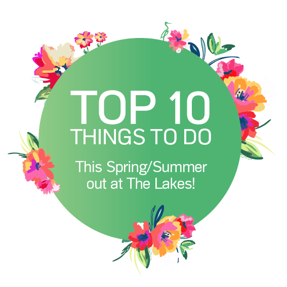 Top 10 things to do at The Lakes this summer