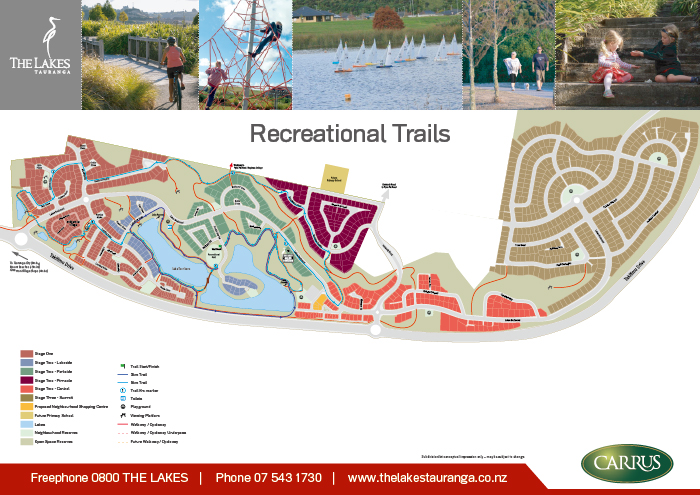 The Lakes Recreational Trail Map